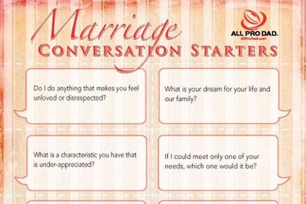 marriage conversation starters