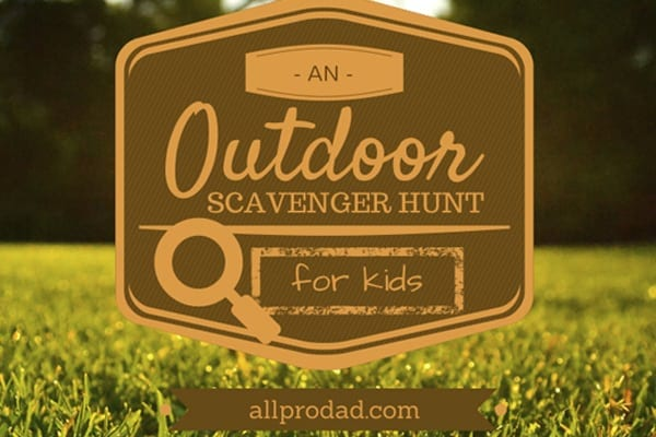 A Simple, But Fun Scavenger Hunt for Dads and Kids