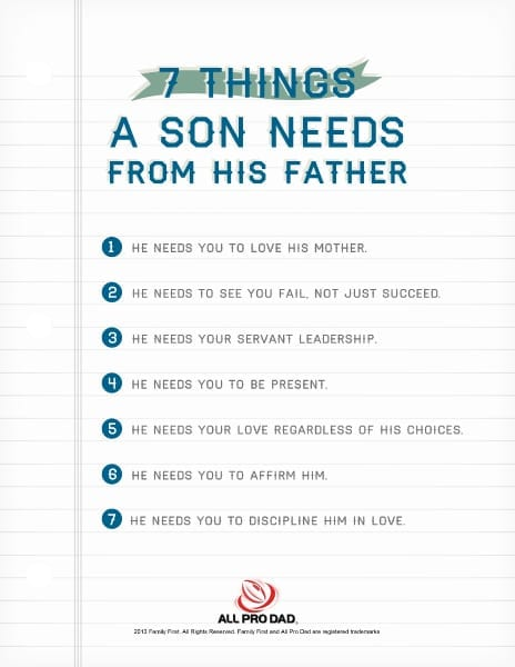 7 Things a Son Needs from His Father