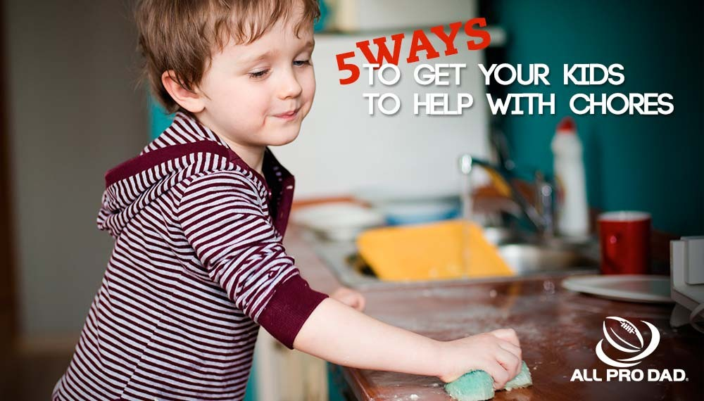 get your kids to help with chores