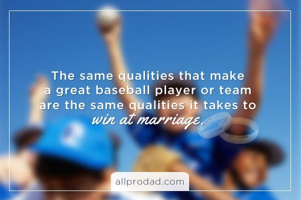 marriage is like baseball