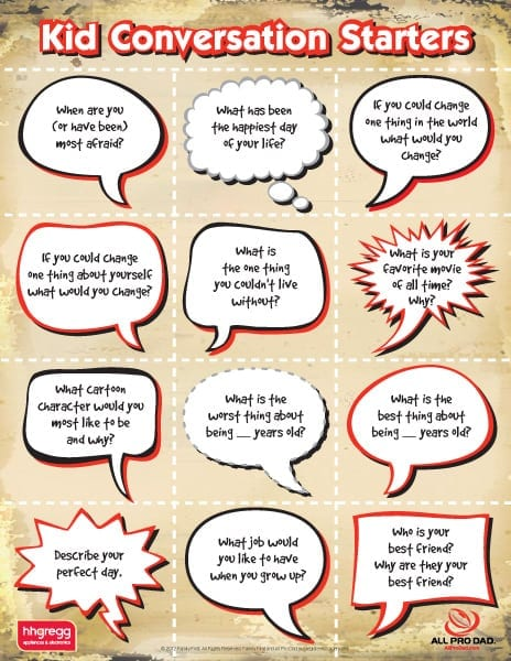 Kid Conversation Starters | All Pro Dad