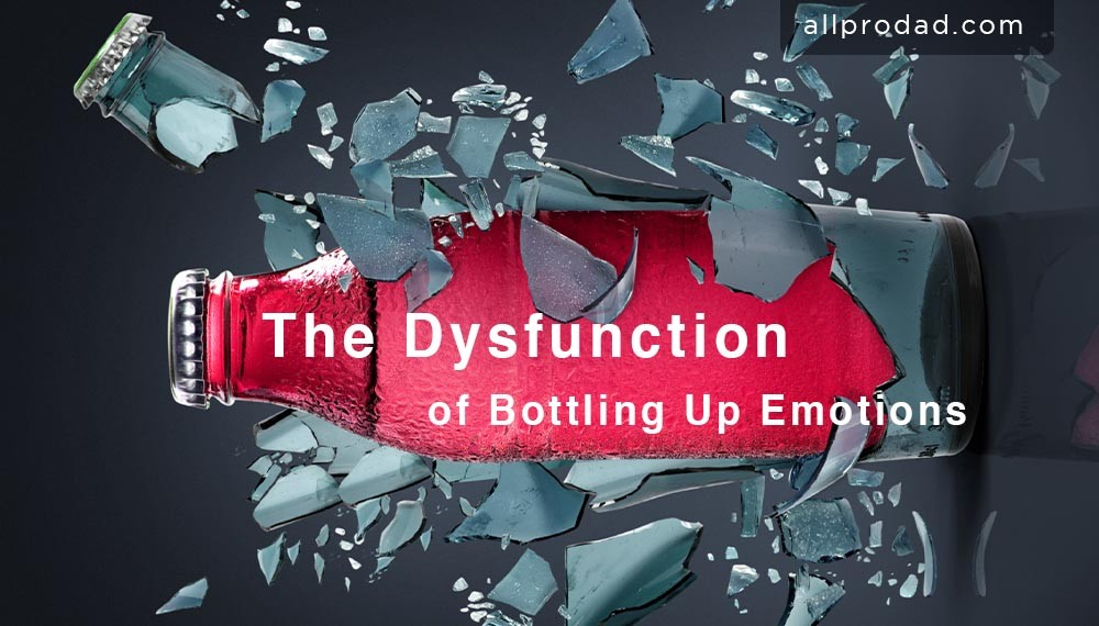 bottling up emotions