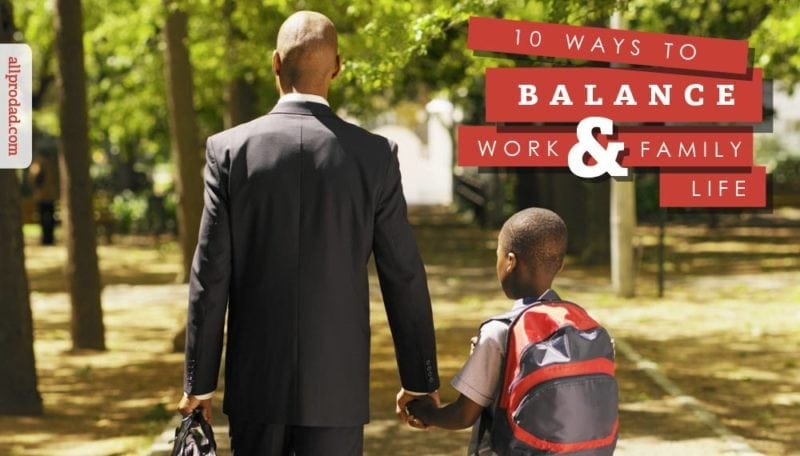 balancing work life and kids family When in balance with the rest of life, work is a tremendous blessing it rightfully should stand shoulder-to-shoulder with the family, as both are allies in healthy living here are a few ideas to help you establish an appropriate work/family balance.