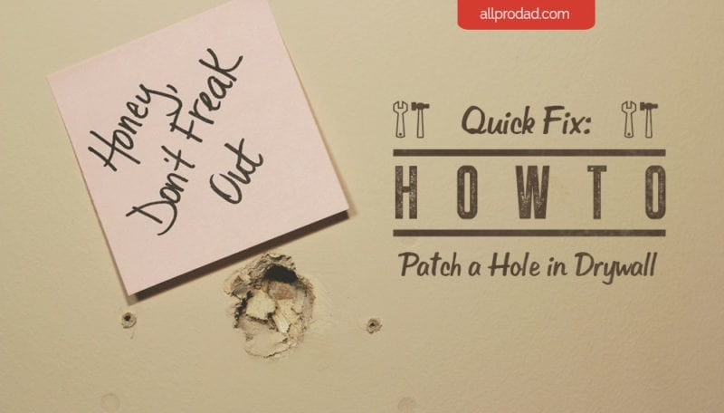 how to patch a hole in drywall