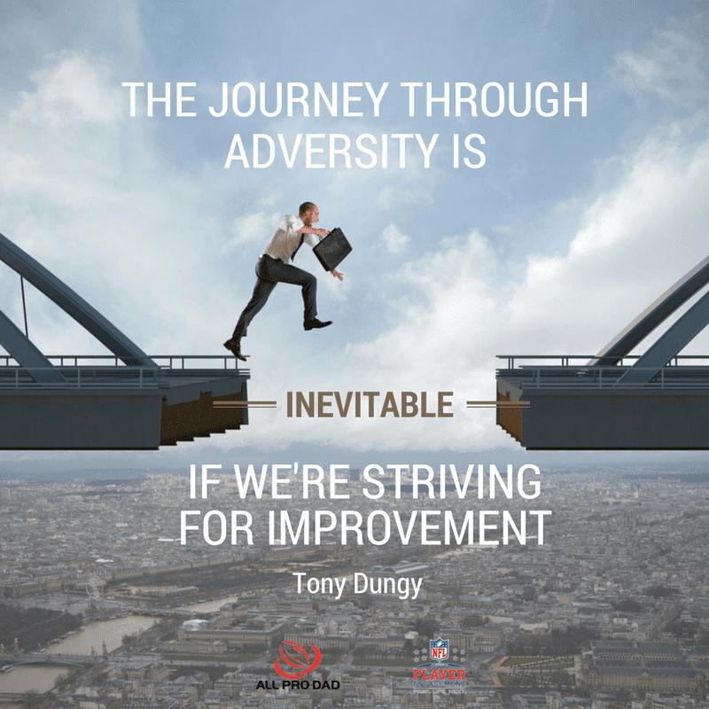 tony dungy adversity quote