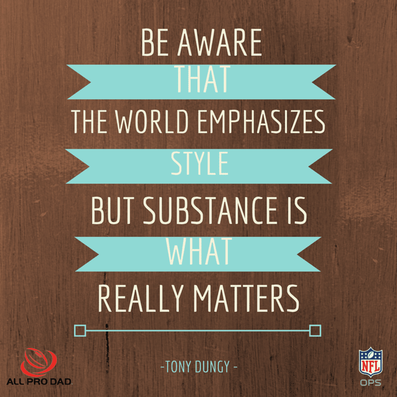 tony dungy what matters quote