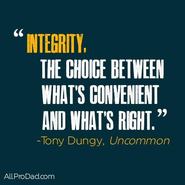 tony dungy integrity