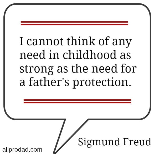 a fathers protection sigmund freud