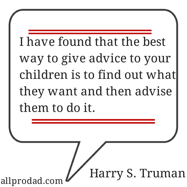 harry truman quote about children