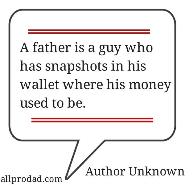 snapshots in his wallet