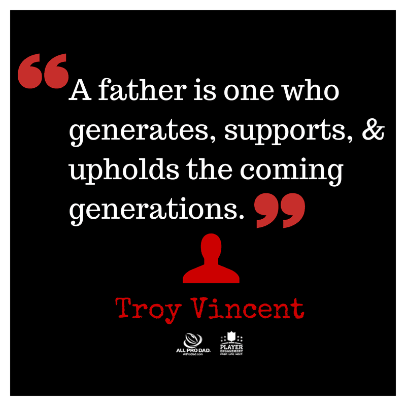 troy vincent generations quote