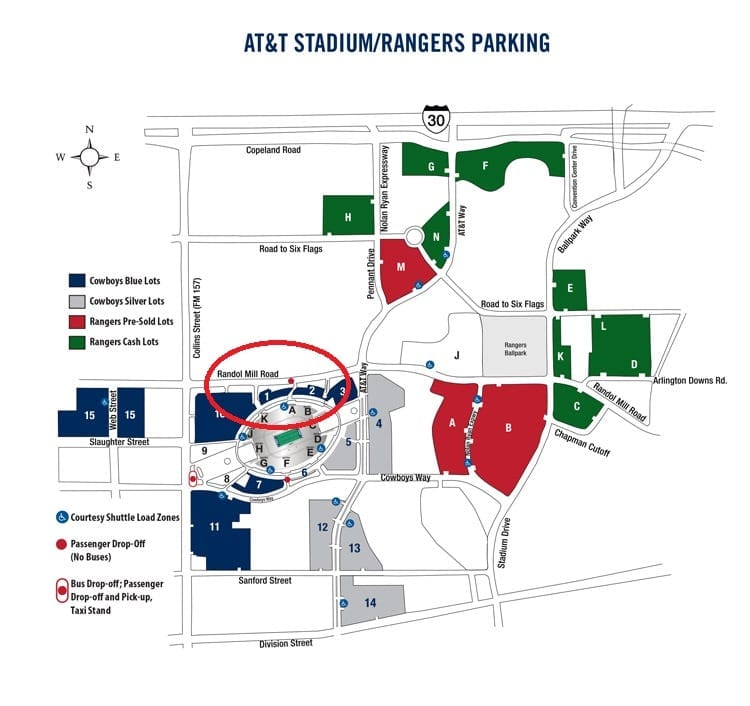 dallas parking map