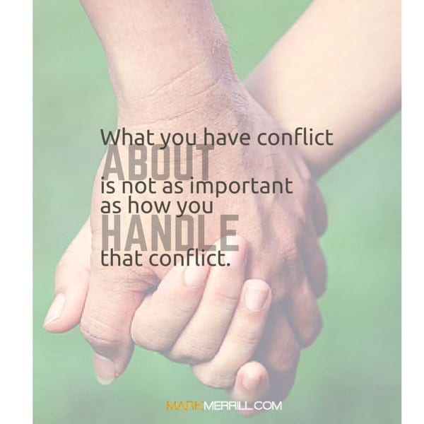 how to handle conflict quote