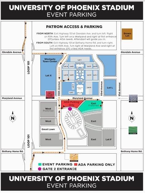 phoenix parking map