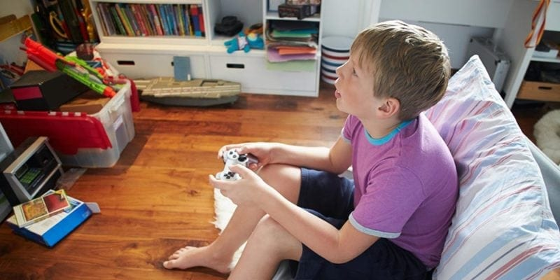 video game addicted kid